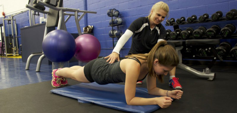 Students in the Fitness Centre Personal Training