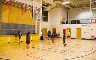 StMU Lightning Basketball Tsuut'ina students
