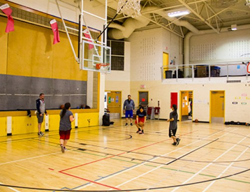 St. Mary's University Lightning Basketball holds clinic for Tsuut'ina Junior & Senior High Students