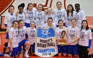 StMU Lightning Basketball playoff win gold