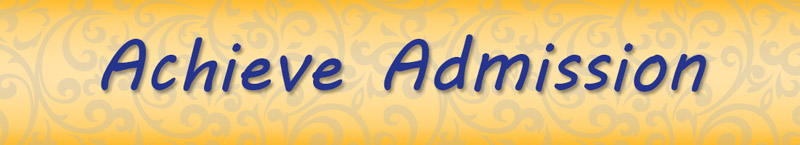 Achieve Admission Requirements