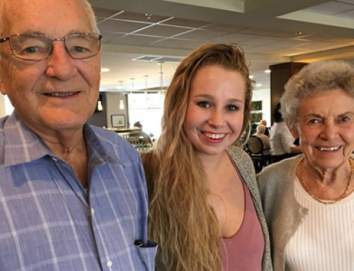 'Resident granddaughter': Calgary student enjoys living at seniors home