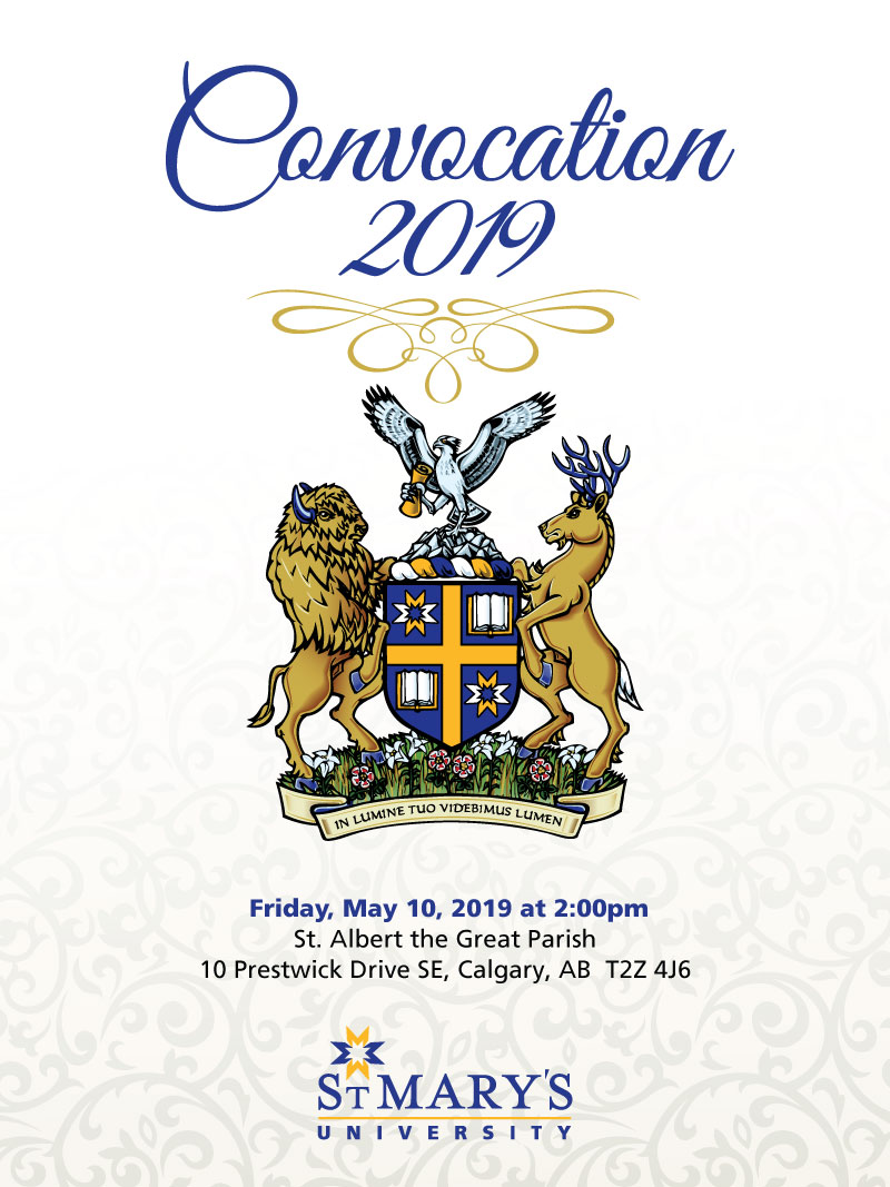 Convocation will be held at 2:00pm on Friday, May 10.