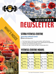 November Fitness Centre Newsletter