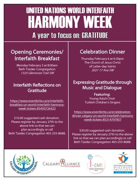 United Nation World Interfaith Harmony Week