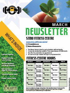 March 2020 Fitness Centre Newsletter