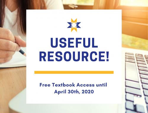 Free Textbook Access until April 30th!