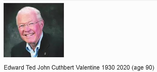 Edward Ted John Cuthbert Valentine